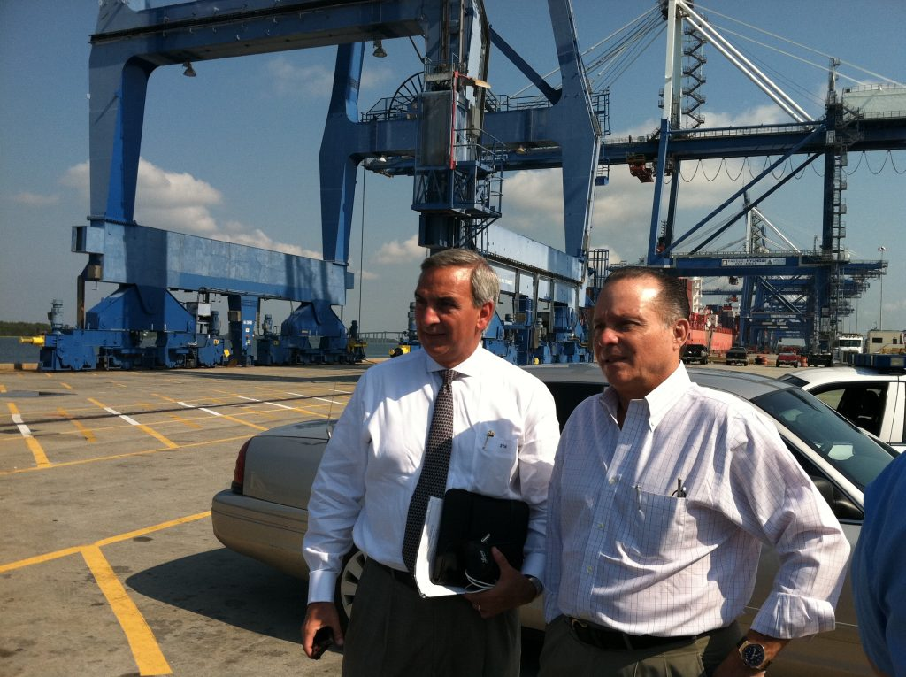 Jim Newsome and Alberto Aleman of Panama Canal Authority