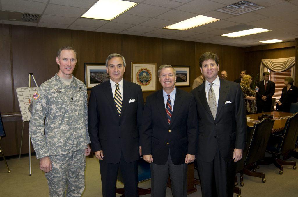 Jim Newsome with Senator Graham and Bill Stern