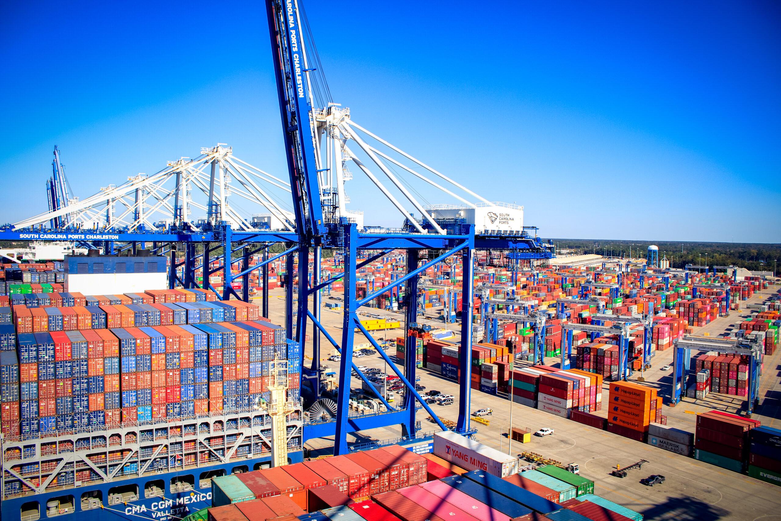 Wando Welch Terminal viewed from a crane